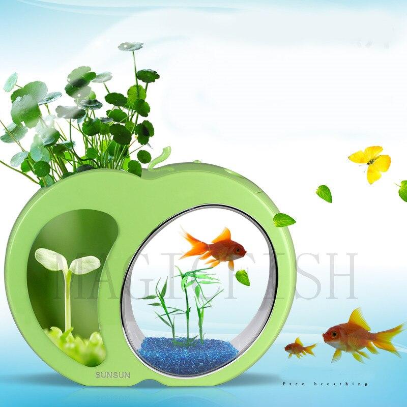 SUNSUN écologie poisson réservoir intégration filtre lumière LED système Mini Nano réservoir bureau Aquarium 3L 4.5L 110 V-240 V