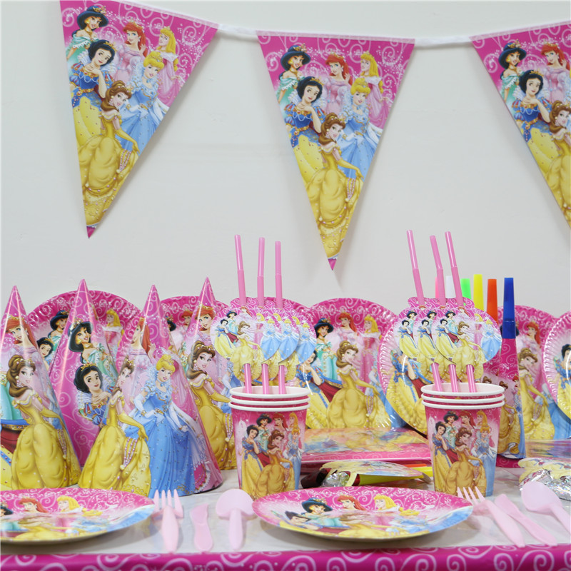Baby Shower Theme Party Supplies Part - 37: 92pcs Luxury Kids Birthday Decoration Set Theme Party Supplies Baby Birthday  Girls Princess Girl Baby Shower Invitation Cards
