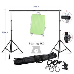 Background Stand Support System 2mx3m/6.5ftx9.8ft Kit with Carrying Case for Muslins Backdrops,Paper and Canvas Support
