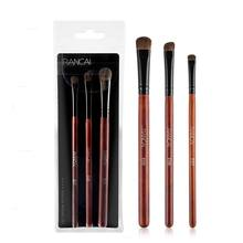 RANCAI New 3pcs eye shadow brush makeup beginner set beauty tool mahogany