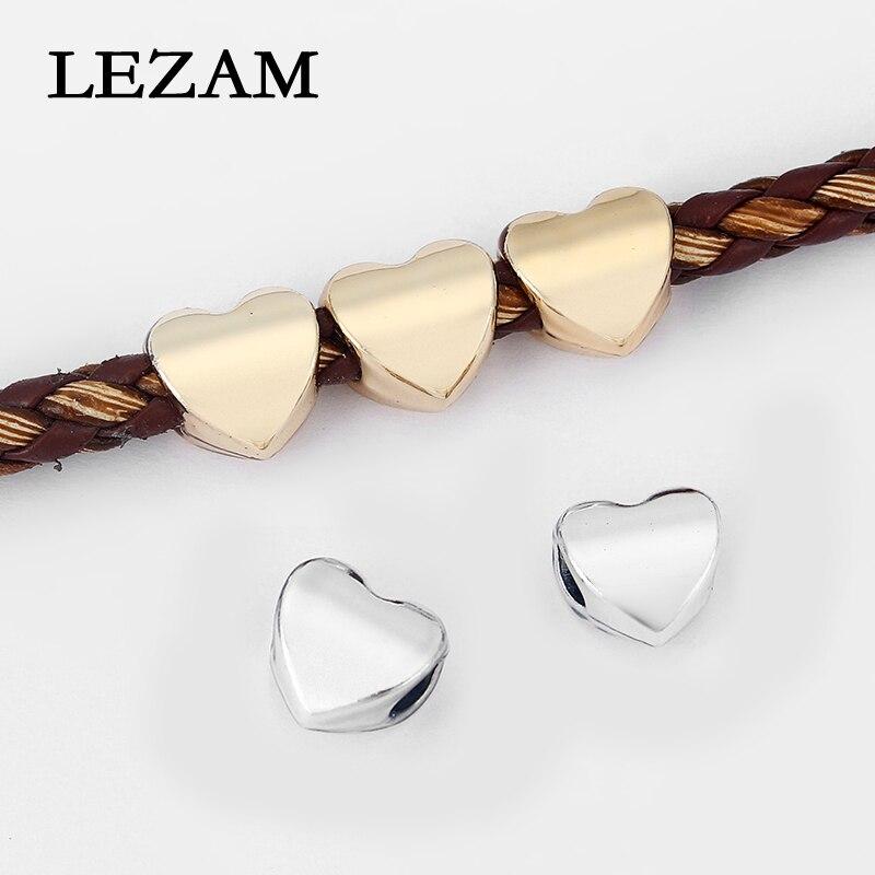 Heart Silver And Black Slide Charm  for 10mm Slide Keep Bracelets