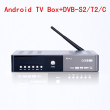 A8 Mais Apoio DVB-S2 DVB-T2 DVB-C Android Combo HI3796 chipset 1080 p 4 K H.265 USB3.0 para PVR Set Top Box WiFi Caixa de TV