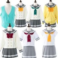 LoveLive Cosplay School Uniforms Love Live Sunshine Aqours Takami Chika School Uniform Love Live Cosplay Costume