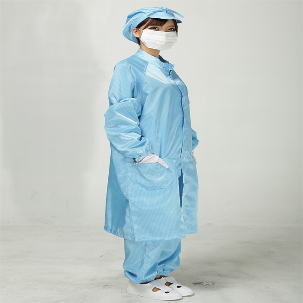Anti static clothes and Cleanroom Clothes working clothes ESD Coat Clothes Color  Blue ( Include Trousers) 500 grams about 750pcs milky latex rubber powder free working protective finger sets anti cutting cleanroom esd work gloves