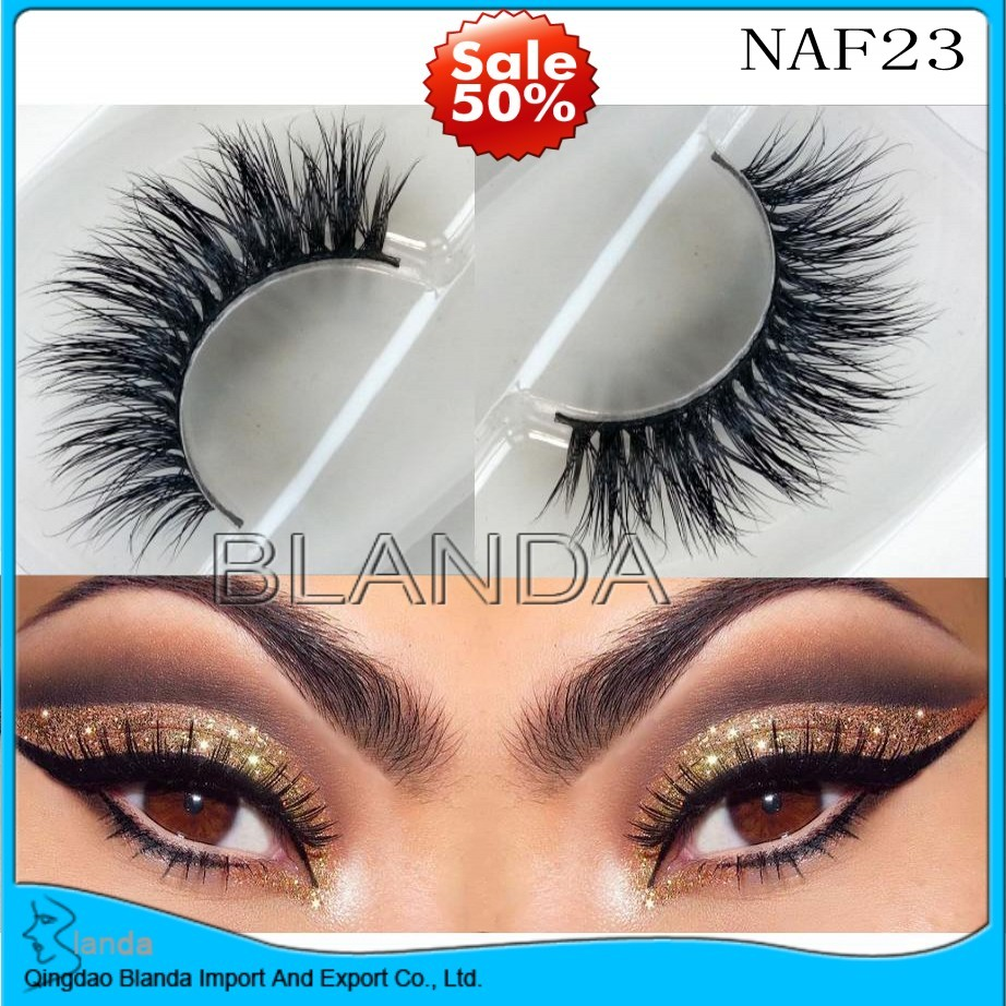 US $569 0 |UPS Free Shipping New 300pair 3D mink eyelash wholesale 100%  real mink fur Handmade crossing lashes individual strip thick lash-in False