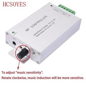 Image 2 - Controlador de música LED RGB DC12V 24V, 18 teclas, Sensor de sonido remoto RF, Control de Audio de voz para tira de luz LED RGB 3528 5050