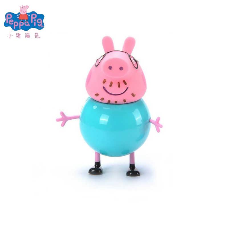 Brinquedo Peppa Pig Porco Cor de Rosa George Pai Mãe Original Pelucia Anime Brinquedo Figura de Ação Original Conjunto de Presente Do Menino Da Menina