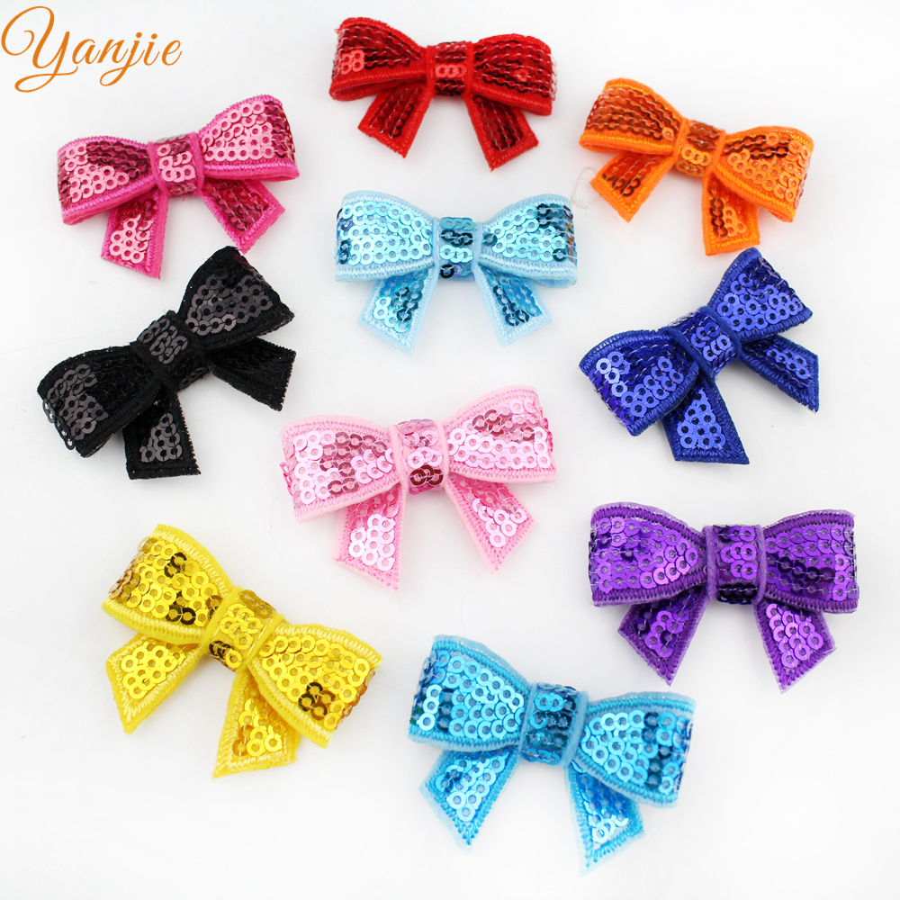 "Image 4 - Free DHL 600pcs/lot Popular Summer Knot Applique 1.8"" Sequins Hair Bow Barrette For Girl Hairpins Hair Clips Hair Accessoriesbow barrettebarrettes for girlssequin hair bows -"