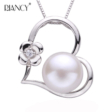 Fashion Pearl Necklace Pearl Jewelry Natural Freshwater white Pearl Pendant 925 Sterling Silver Jewelry Choker Necklace недорого