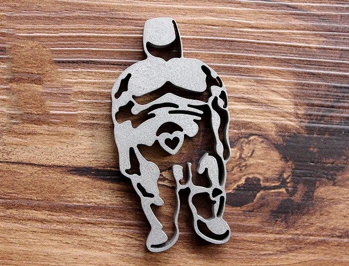 Lucky Fat Man EDC gear титановая цепочка для ключей Сверхлегкий Зажим для ремня кулон мульти-функциональный инструмент креативные EDC плеер аксессуар...