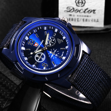 Men Army Watch Military Male Quartz Watches Fabric Canvas Strap Casual Cool Men's Sport Round Dial R