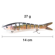 Piscifun Hard Fishing Lure 14CM 27g Multi Jointed 3D Eyes Lure 8-Segment  Hard Lure Crankbait With 2 Hook Fishing Baits
