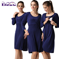 Emotion Moms Long Sleeve pregnancy Maternity clothes nursing dress Breastfeeding Dresses for Pregnant Women Maternity Dresses