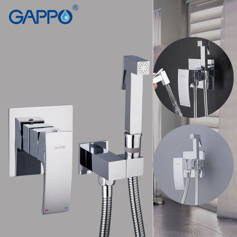 все цены на Gappo Bathroom bidet shower set Showe faucet toilet bidet muslim Brass wall mount washer tap mixer