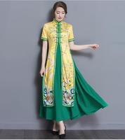 Summer Vietnam Womens Dress Chinese traditional dress 2017 New Fashion Vietnam ao dai 8 Colour
