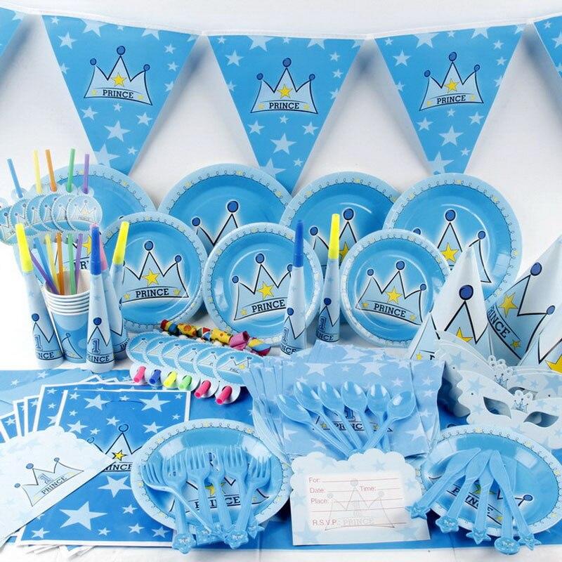 1 set 92pcs disposable kids boy girl birthday decoration. Black Bedroom Furniture Sets. Home Design Ideas