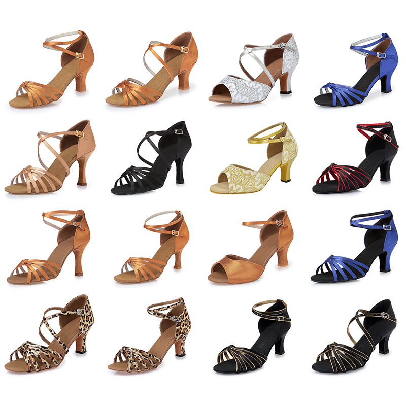 Women's Dance Shoes Ballroom/Latin Shoes Heels Chunky Heel 6.5cm 7.5cm 8.5cm More colors available Factory direct sale