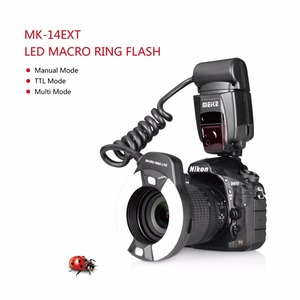 Image 3 - Светодиодный кольцевой светильник Meike MK 14EXT i TTL для Nikon D5600 D5200 D5100 D5000 D3200 D3100 D90 D750 D600