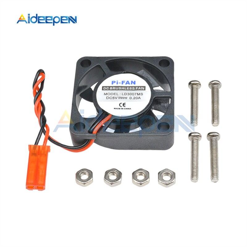 1 Pcs 5 V 0.2A Mini Kühlung Kühler Lüfter Für Raspberry Pi Modell B +/Raspberry Pi 2/ raspberry Pi 3 Mit Schrauben Teile 3,3 V/5 V