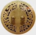Grande mobiliário chinês gabinete rosto placa Pull punho de bronze Hardware cobre 24 cm