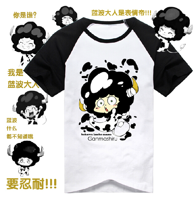 Katekyo Hitman Reborn Cotton T Shirt Anime Men Lambo Short Sleeve