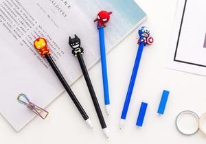 Image 5 - 32 Pcs Creatieve Student Aarde Hero Cartoon Neutrale Pen 0.5Mm Blackwater Student Neutrale Pen School Briefpapier Groothandel