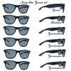 6 çift/grup siyah damat Bestman sağdıç parti güneş gözlüğü altın Metal çıkartmalar sağdıç hediye düğün güneş gözlüğü