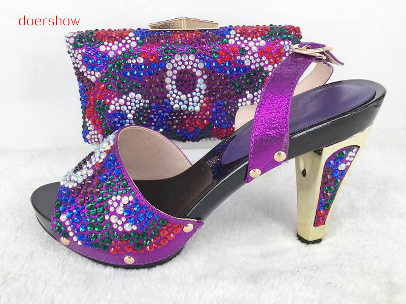 Shoes and Bag To Match Italian Matching Shoe and Bag Set African Wedding Shoes and Bag To Match for Parties doershow Hlu1-37 doershow african shoes and bags fashion italian matching shoes and bag set nigerian high heels for wedding dress puw1 19