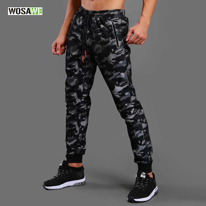 60cc49a8 WOSAWE камуфляж мужские брюки для бега спортивные штаны для бега для  спортзала атлетики футбольные тренировочные брюки