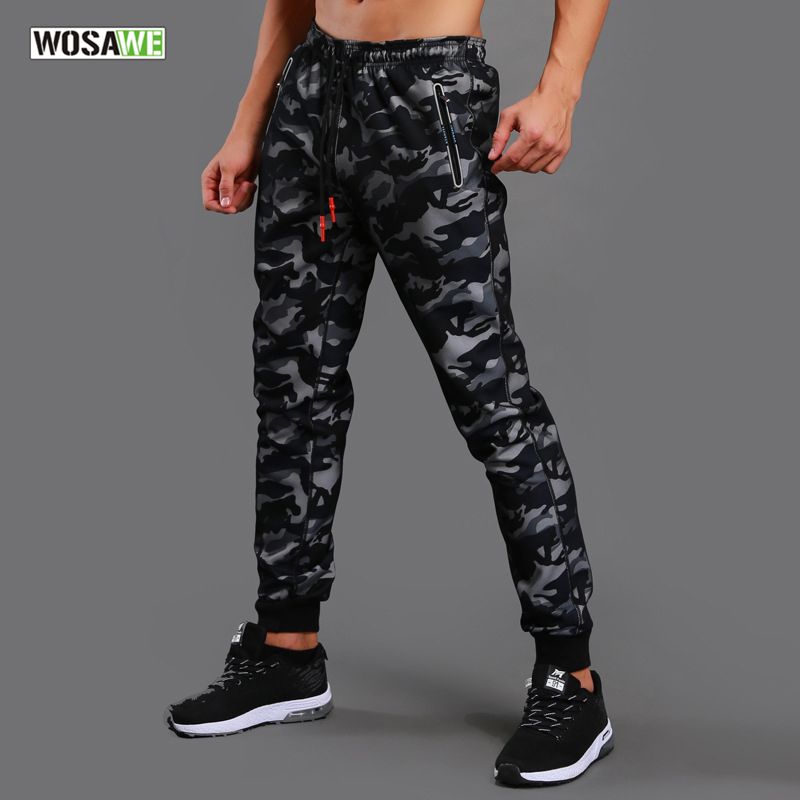 WOSAWE Camouflage Running Pants Men Sport Trousers Training Jogging Gym Athletic Football Sweatpants Fitness Elastic Sportswear new gym sport pants men rashgard jogging pants fitness joggers running pants men sportswear sweatpants elastic training trousers