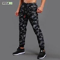 WOSAWE Camouflage Running Pants Men Sport Trousers Training Jogging Gym Athletic Football Sweatpants Fitness Elastic Sportswear