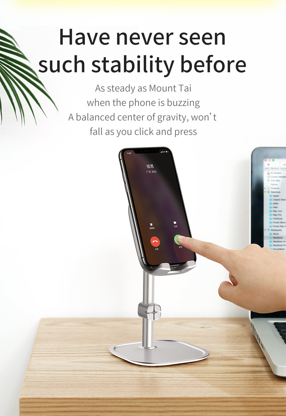 Baseus Mobile Phone Holder For iPhone XS Max iPad Non-slip Adjustable Metal Desktop Phone Stand For Samsung Xiaomi Huawei Tablet 10