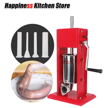 hot deal buy  3l big sausage maker manual sausage stuffer machine making filling vertical sausage filler meat tools kitchen accessories