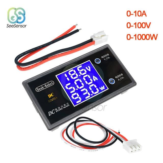High Power DC 12V Digitale Voltmeter Amperemeter Motorfiets Auto Voltage Stroom Meter 100V 10A 50V 5A volt Tester Amp Detector|Huidige Meters|   -