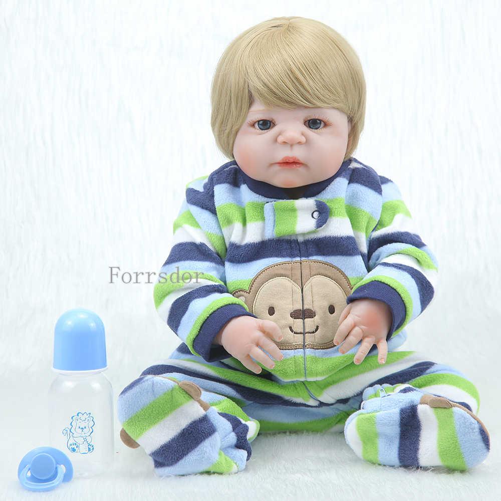 """22 """"55 см настоящая человеческая силиконовая кукла для возрождения, Реалистичная кукла для новорожденного мальчика, игрушки для детей, подарки для костяного ведра, вода"""