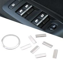 Door Window Lift Button Switch Sequin Trim Accessories For Peugeot 2008 3008 408 508 301 308 Citroen C4L C QUATRE C5