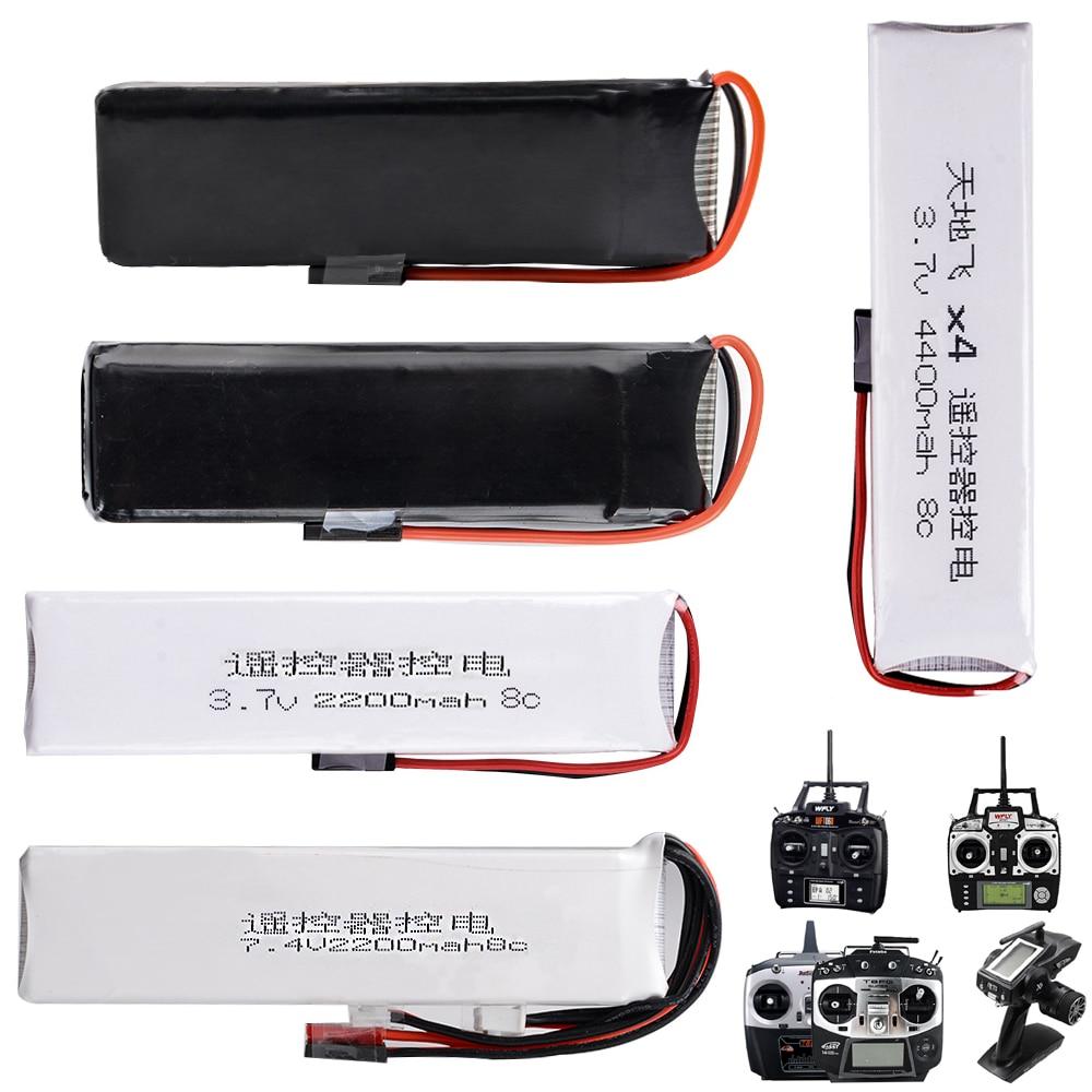 1 stücke Li-Polymer 2 S 3,7 V 7,4 V 1600 mah 2200 mah 3200 mah 4400 mAh Lipo batterie Für Wfly Radiolink Futaba Sender
