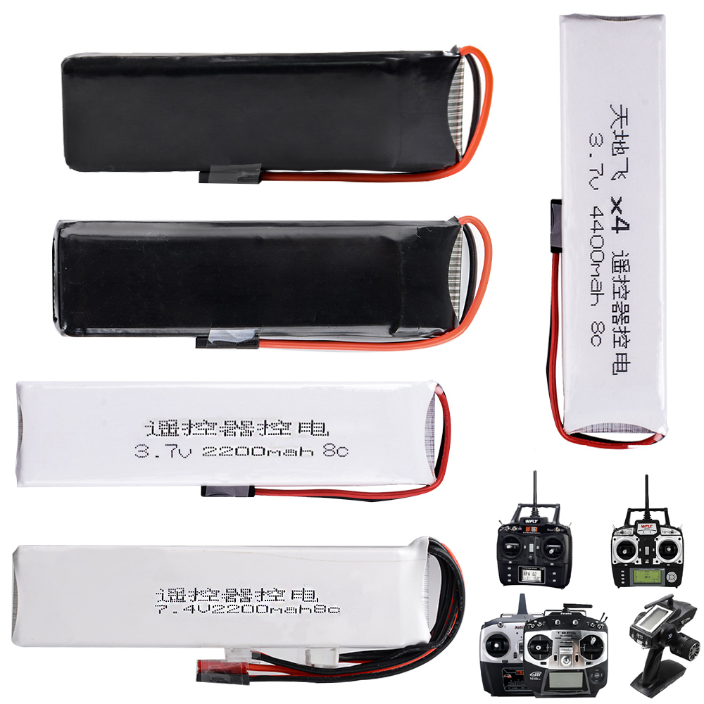 1 unids li-polímero 2 s 3.7 V 7.4 V 1600 mAh 2200 mAh 3200 mAh 4400 mAh lipo batería Para wfly radiolink transmisor futaba