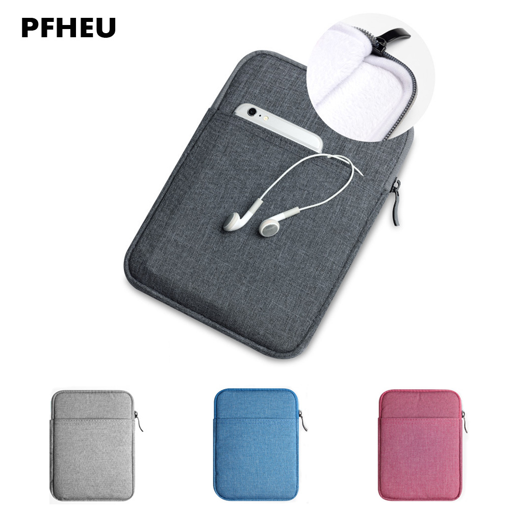 For New iPad 2017 Sleeve Slim Nylon Pouch Bag For Apple New iPad 9.7 canvas Space cotton Plush Tablet bag