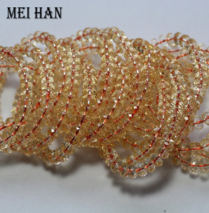 Image 2 - Wholesale (1bracelets/set/28 beads) 5 7*8 9mm natural citrinee bracelet faceted rondelle bracelet beads for women bracelet gift