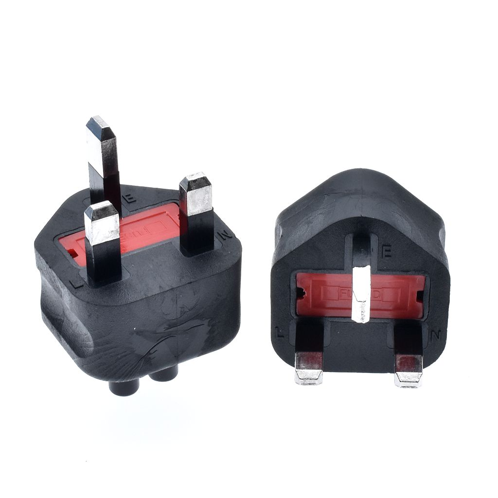 HTB1eX8cac vK1RkSmRyq6xwupXa3 - High quality black Copper Standart 10A 250V British standard to IEC320 C5 power adaptor plug convert socket