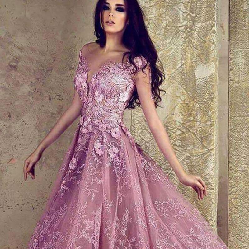 Parti Abiye A Rose Fleur Bal De Robes Dentelle 2018 Jolie Formelle 3d Abendkleider Soirée Arabe ligne Arabie CU4q6