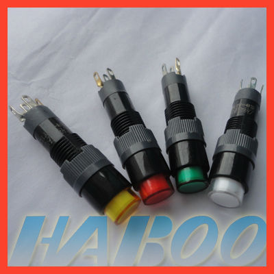 HABOO dia.8mm led indicator switch various color electri indicator lamp led light 6V,12V,24V
