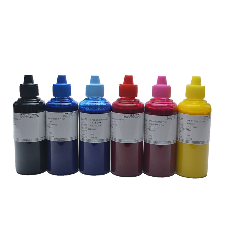 (6 Items/lot)Manufacturing facility Direct Promote, For Epson Common Pigment Ink 100Ml* 6 Colour Use For Epson All Inkjet Printers & Ciss