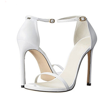Luchfive Classic One-strap Sandalia Feminina Stiletto High Heels Women Sandals Solid Sexy Party Shoes Woman Zapatos Mujer