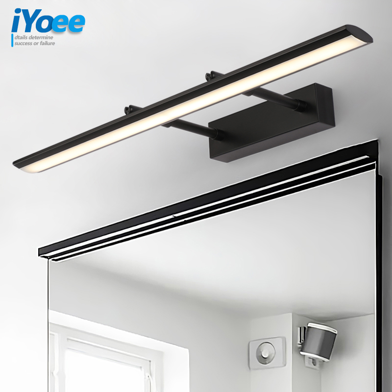 Modern Stainless Steel LED front mirror light bathroom makeup wall lamps led vanity toilet wall mounted