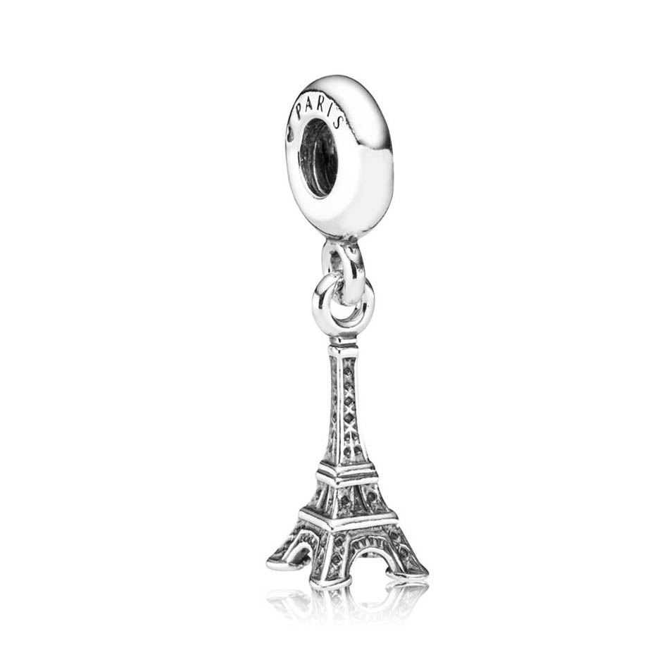 925 Sterling Silver DIY Jewelry Eiffel Tower Dangle Charm fit Pandora Bracelet Bangle Lady  Girl Gift925 Sterling Silver DIY Jewelry Eiffel Tower Dangle Charm fit Pandora Bracelet Bangle Lady  Girl Gift