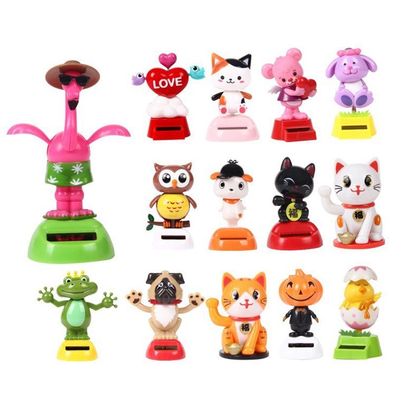 Новинка Солнечная игрушка ed танцующий откидной клапан качающийся головой игрушки для детей солнечная игрушка энергия фигурка игрушки