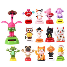 Novelty Solar Toy Powered Dancing Flip Flap Swinging Shook His Head Toys For Children Solar Toy Power Energy Figure Toys