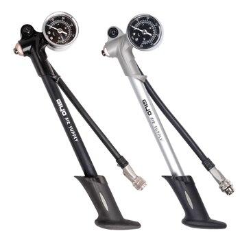 مضخة GIYO 300PSI لتوريد الهواء مزودة بنافخة دراجة لتضخيم صدمة الشوكة مناسبة لـ Schrader مع خرطوم قابل للطي لمقياس psi/bar GS02D